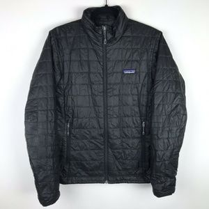 Patagonia Nano Puff Jacket Black Full Zip Quilted
